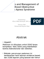 Diagnosis and Management of Childhood Obstructive.