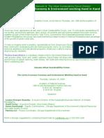 1-7-09 Urban Sustainability Forum on Green Economy