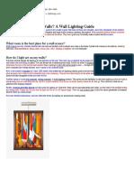 How Can I Light My Walls_ – a Wall Lighting Guide - Lightology