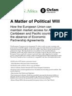 A Matter of Political Will