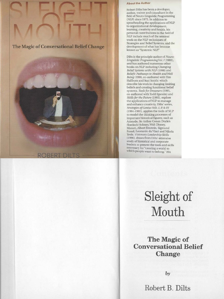 Robert Dilts - Sleight of Mouth - The Magic of Conversational Belief ...