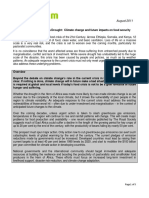 Climate Change and Future Impacts on Food Security