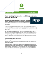 How Tackling Tax Evasion Could Help Overcome Poverty in the UK