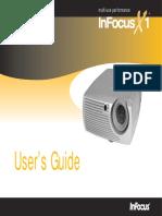 Projector InFocus X1 Manual