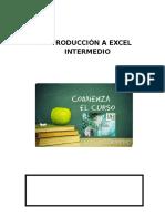 Excel Introducción