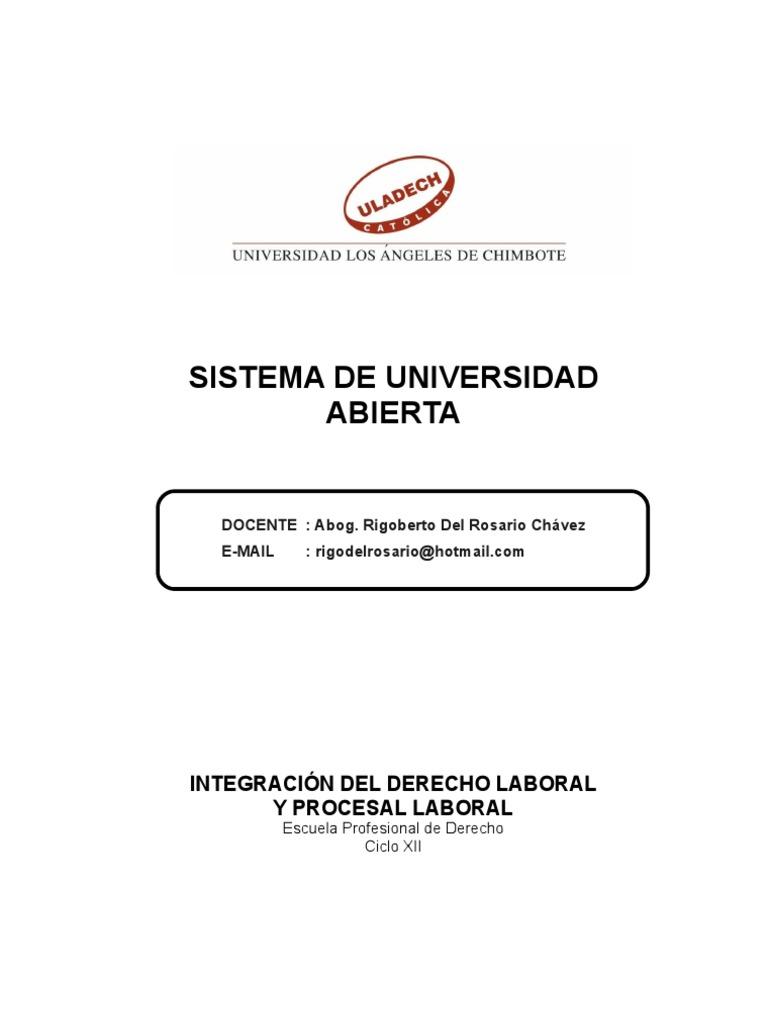 Integracion Del Derecho Laboral y Procesal Laboral