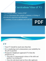 Resume and Cv