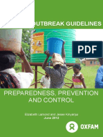 Cholera Outbreak Guidelines
