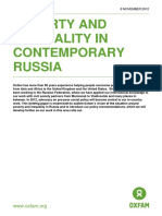 Poverty and Inequality in Contemporary Russia