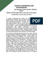 Características Distintivas Del Pensamiento - Paneuritmia