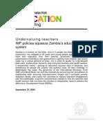 Undervaluing Teachers