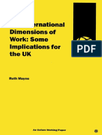 The International Dimensions of Work