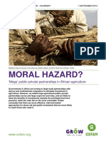 Moral Hazard? 'Mega' public-private partnerships in African agriculture