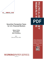 Securities Transaction Taxes for U.S. Financial Markets