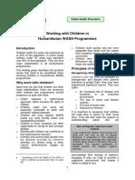 Working with Children in Humanitarian WASH Programmes