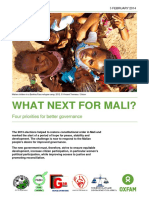 What Next for Mali? Four priorities for better governance in Mali