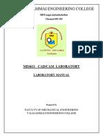 Me6611-Cad Cam Lab