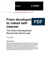 From Development to Naked Self-Interest