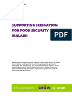 Supporting Irrigation for Food Security in Malawi