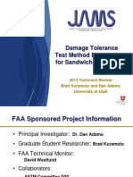 Damage Tolerance Test Method Development for Sandwich Composites-Adams