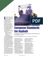 European Standards for Asphalts