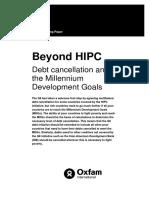 Beyond HIPC