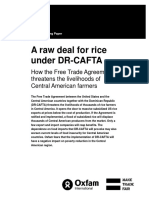 A Raw Deal for Rice under DRCAFTA