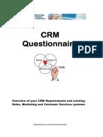 Crm Questionnaire