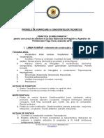 Tematica Şi Bibliografia Pentru Concursul de Admitere La SNPAP Tg. Ocna