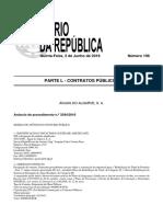 """Anúncio DR  da """"Empreitada de Reabilitação do Túnel de Portimão – Fase 1"""