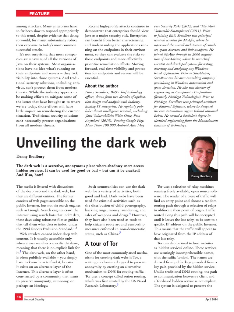 DARK_WEB_SCIENCE_DIRECT pdf | Tor (Anonymity Network) | Online