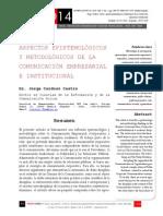 Icono14. A8/V2. Aspectos epistemológicos y metodológicos de la comunicación empresarial e  institucional