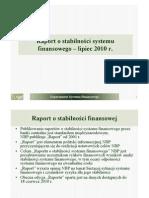 Raport o Stabilnosci Systemu go 2010 07 Prezentacja
