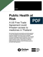 Public Health at Risk