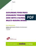 Exploring Food Price Scenarios Towards 2030 With a Global Multi-Region Model