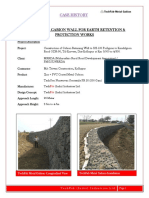Construction of Gabion Retaining Wall at Kolhapur Construction of Gabion Retaining Wall to SH 130
