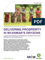 Delivering Prosperity in Myanmar's Dryzone