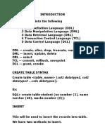 SQL St Material