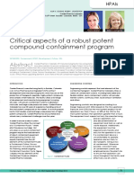 Criticalaspects of a Robust Potent Compound Containment Program