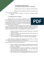 Designing Effective Presentations on PR Topics