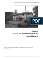Findings and Recommendations of the Applied Research