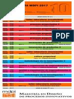 cronograma MDPI 2017