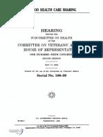 HOUSE HEARING, 106TH CONGRESS - VA/DOD HEALTH CARE SHARING