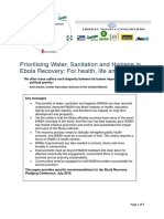 Prioritising Water, Sanitation and Hygiene in Ebola Recovery
