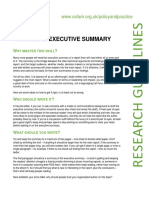 Writing an Executive Summary