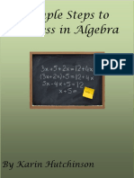 Simple Steps to SuccessALGEBRA