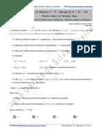 Ficha de Trabalho n.º 8 - Funções Reais de Variável Real-1