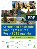 Secure and Equitable Land Rights in the Post-2015 Agenda