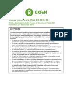 Welfare Reform and Work Bill 2015–16