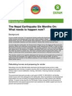 The Nepal Earthquake Six Months On